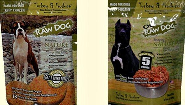 OC Raw Dog Food Recalled May 2015